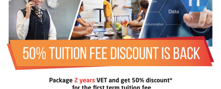50 Percent Tuition Fee Discount