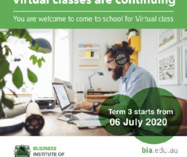 Term 3 starts next Monday, 6th July 2020