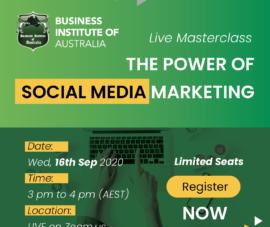 LIve Masterclass – The power of social media marketing